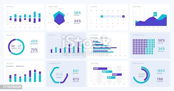 Infographic elements. Use in presentation template, flyer, leaflet and corporate report. UI and UX Kit with big data visualization.