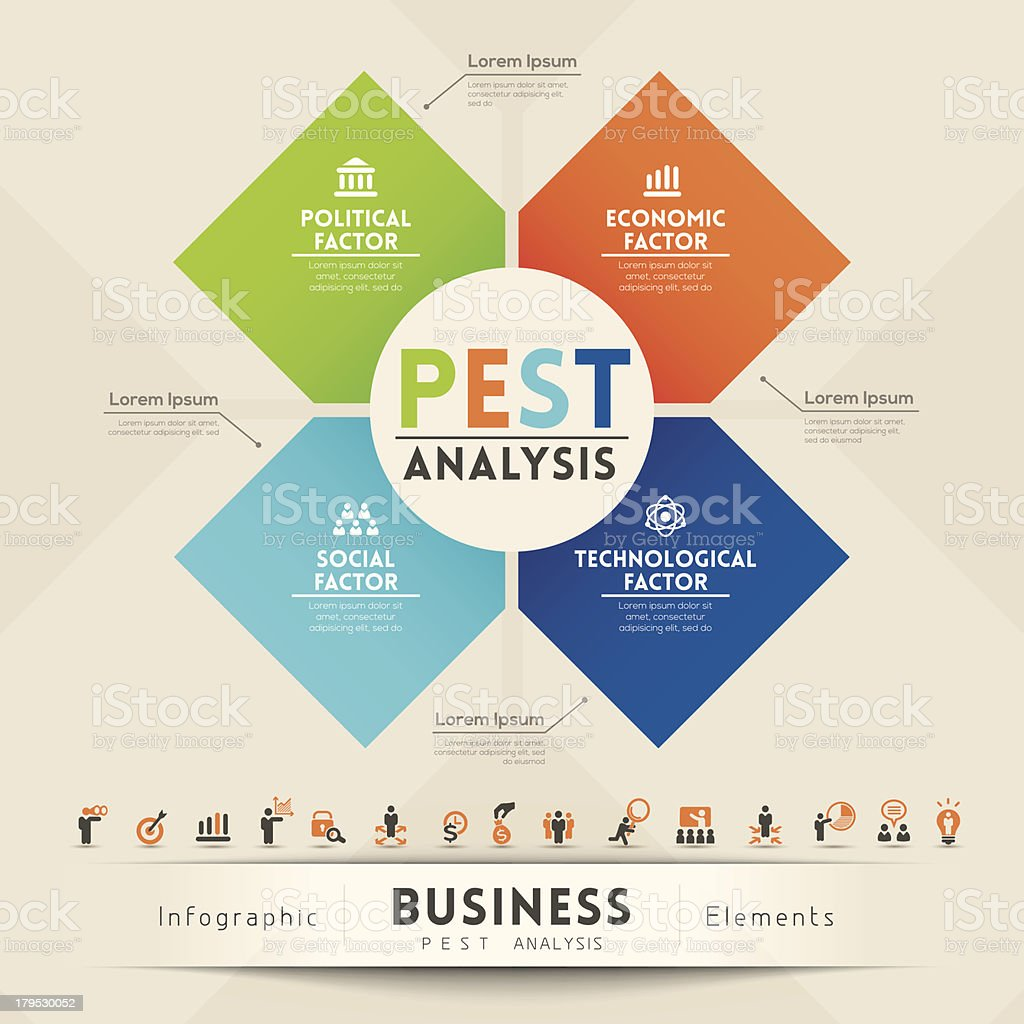Infographic Elements Of Business Analysis Diagram Stock
