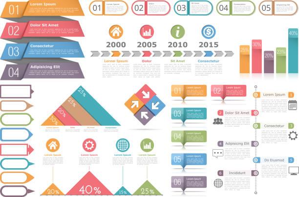 Infographic Elements Set vector art illustration