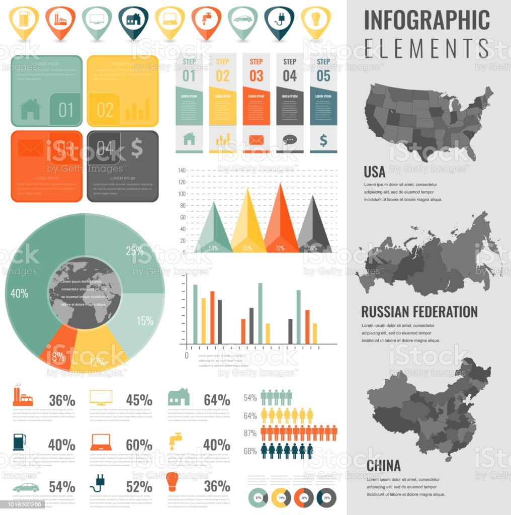 Infographic Elements Set With Maps Of The Countries Usa China ... on usa map chart, usa map communication, usa map mobile, usa map movie, usa map resources, usa map illustration, usa map games, usa map food, usa map business, usa map green, usa map money, usa map brand, usa map poster, usa map home, usa map photoshop, usa map learning, usa map powerpoint, usa map digital, usa map app, usa map puzzle book,