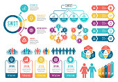 istock Infographic Elements. SWOT Analysis Infographic Elements 1227589849