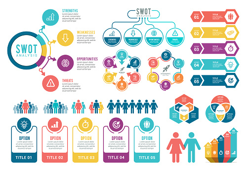 Infographic Elements. SWOT Analysis Infographic Elements