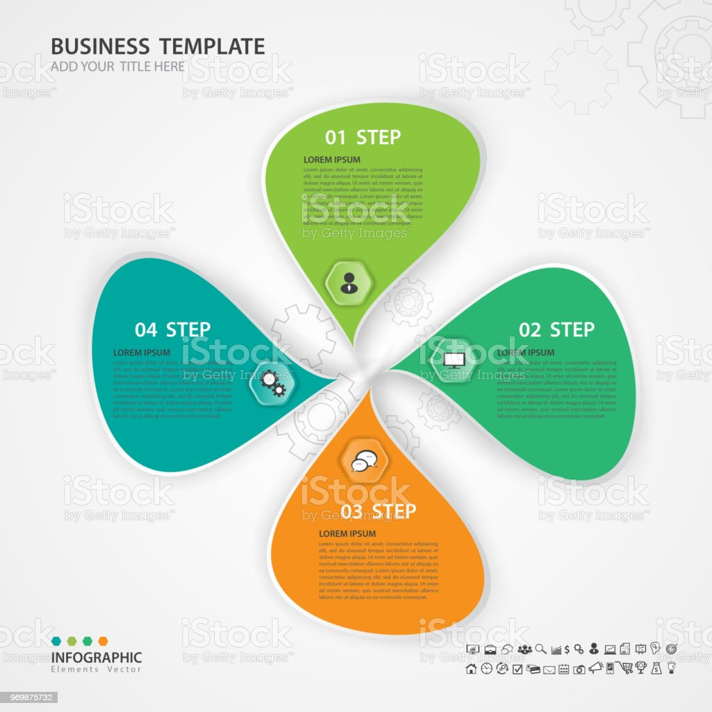 Infographic Elements template vector, 3d diagram with 4 steps, Flow Chart, Process  chart