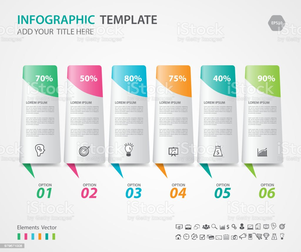 Infographic Elements template vector, diagram with 4 steps, Flow Chart, Process  chart,