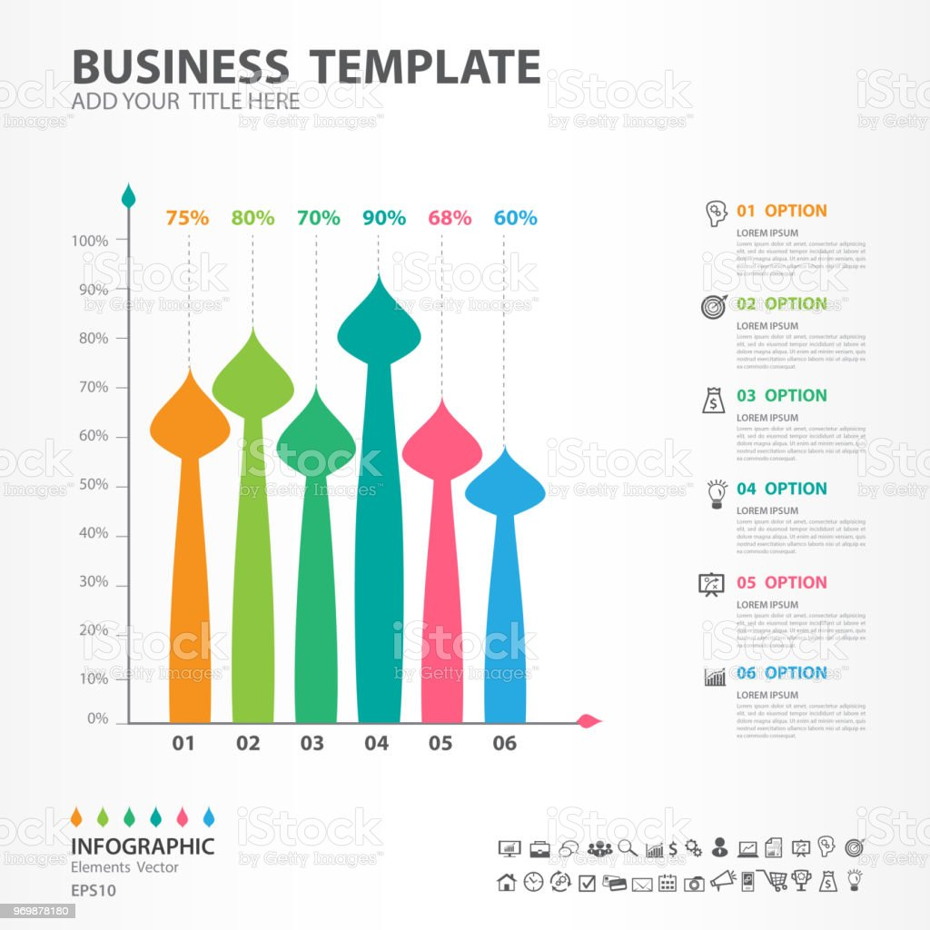infographic elements template vector paintbrush diagram with 4 steps