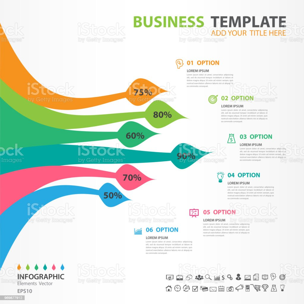 infographic elements template vector, paintbrush diagram with 6 steps, flow  chart, process chart