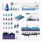 A set of modern triangular infographic elements. EPS 10 file, with transparencies, layered & grouped,