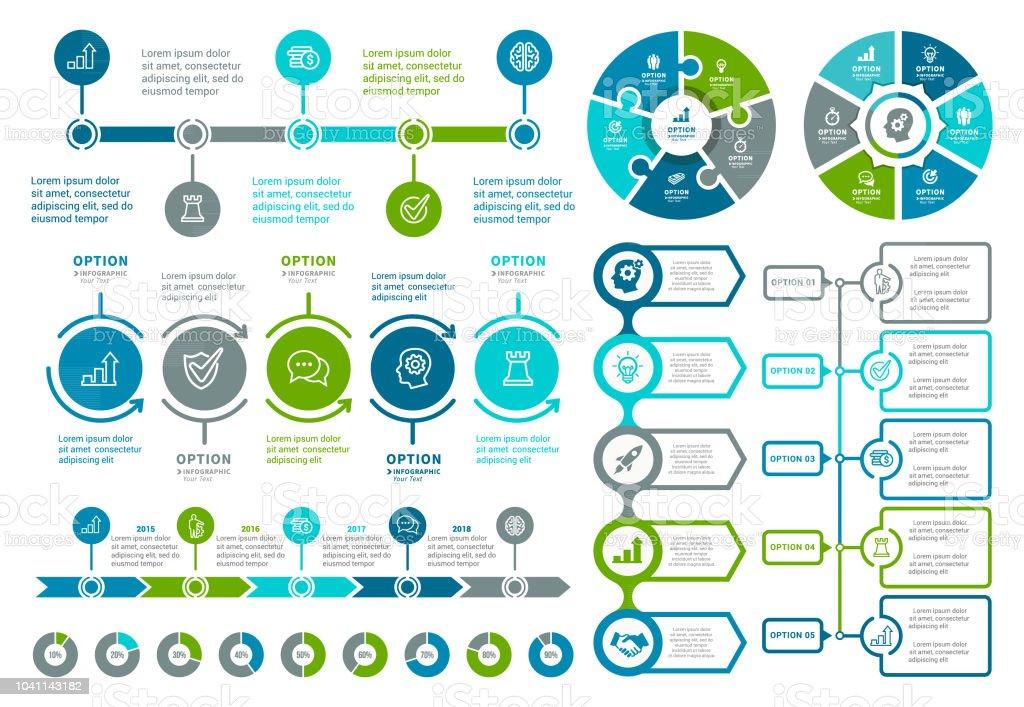 Elementos para infográficos  - Vetor de Agenda pessoal royalty-free