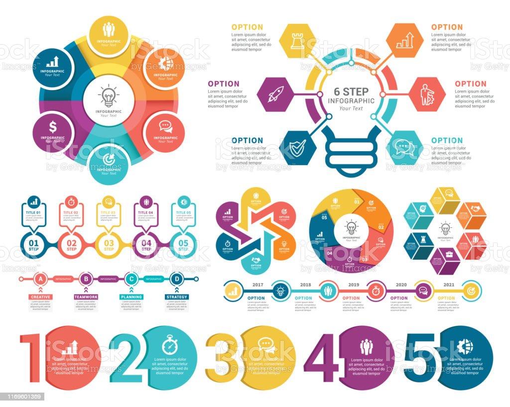 Éléments infographiques - clipart vectoriel de Abstrait libre de droits