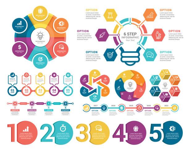 stockillustraties, clipart, cartoons en iconen met infographic-elementen - infographic