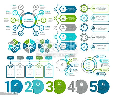 Vector illustration of the infographic elements