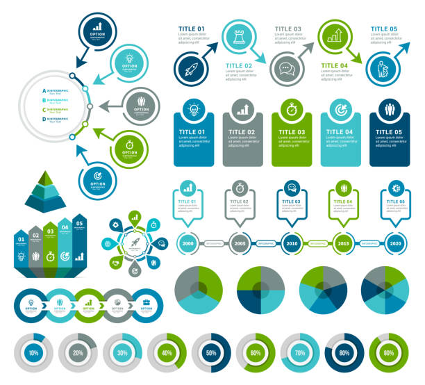i̇nfografik unsurlar - infographic stock illustrations