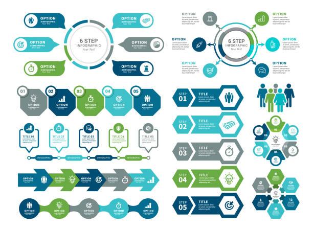 stockillustraties, clipart, cartoons en iconen met infographic-elementen - organisatie
