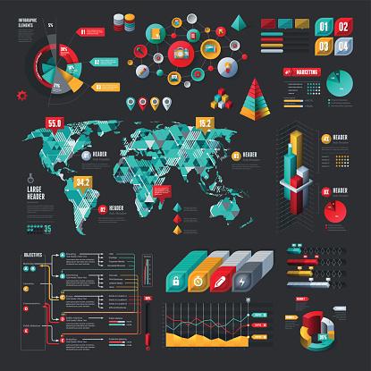 Elementi Infografici - Immagini vettoriali stock e altre immagini di 2015