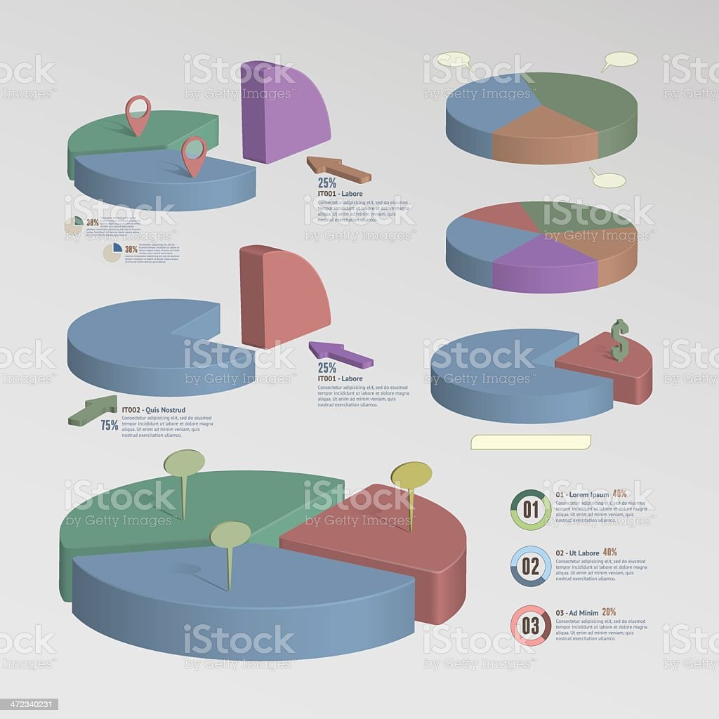 3D Infographic Elements royalty-free 3d infographic elements stock vector art & more images of abstract