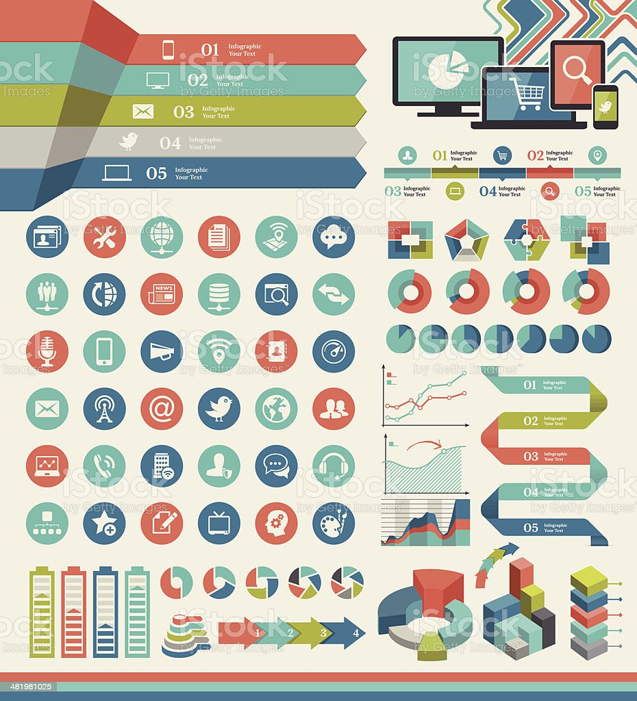 Infographic Elements royalty-free infographic elements stock vector art & more images of activity