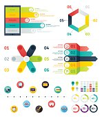 Set of infographic elements. Vector illustrations for technology presentation, booklet, web site etc.