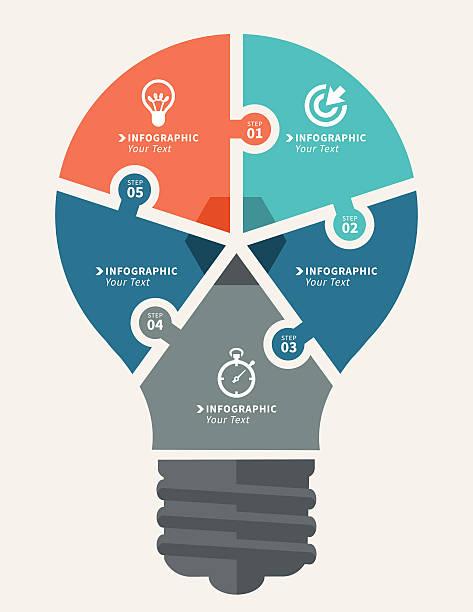 infografiki elementy - oś czasu pomoc wizualna stock illustrations