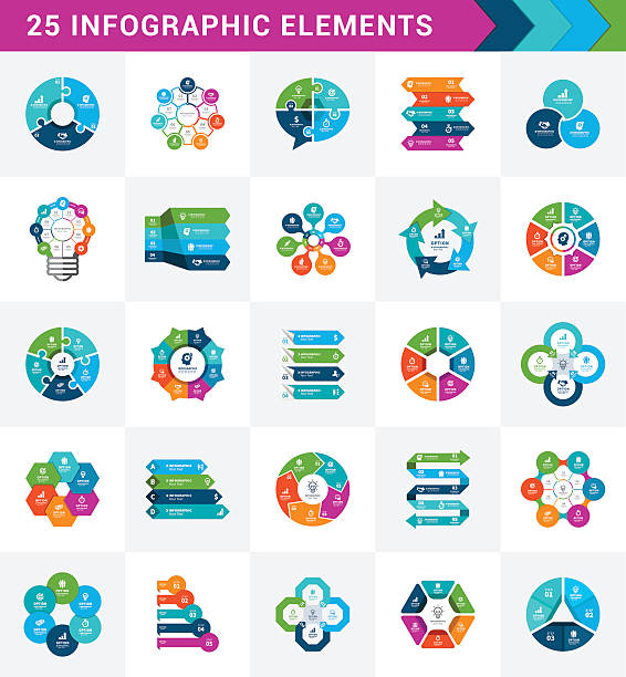 infographic elements - abstract calendar stock illustrations, clip art, cartoons, & icons