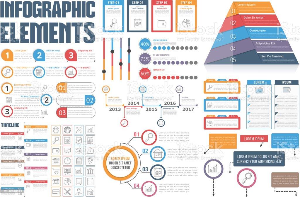 Infografía elementos  - ilustración de arte vectorial