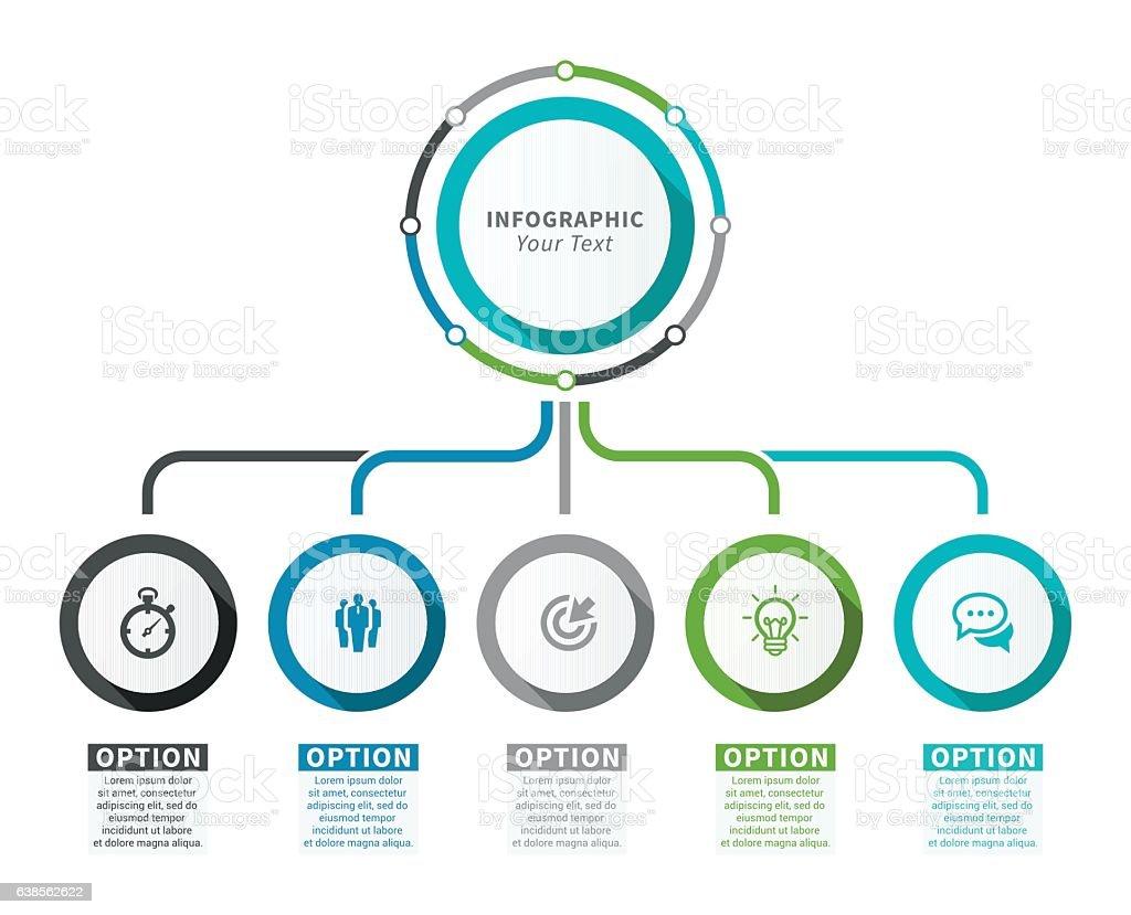 Elementos para infográficos  - ilustração de arte em vetor