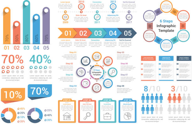infographic elements - infographics stock illustrations, clip art, cartoons, & icons