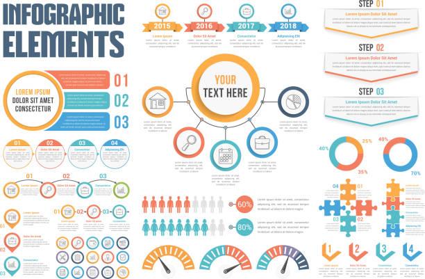 インフォグラフィック要素  - 人口統計のインフォグラフィック点のイラスト素材/クリップアート素材/マンガ素材/アイコン素材