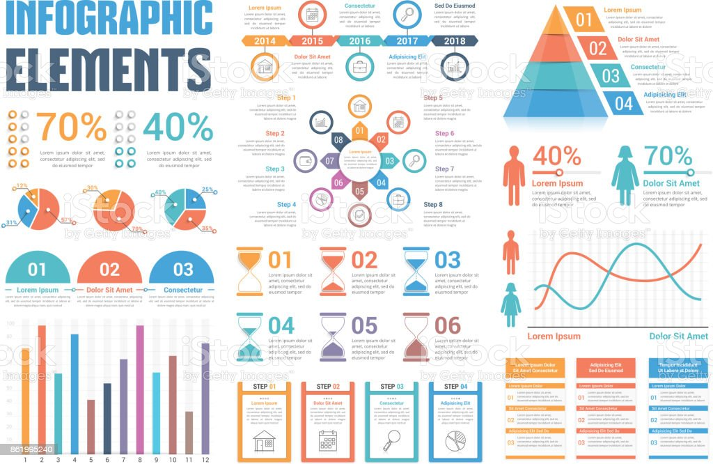 Infographic Elements - illustrazione arte vettoriale