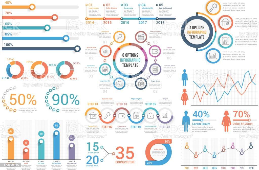 Éléments infographiques  - clipart vectoriel de Affaires libre de droits