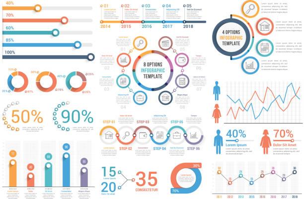 stockillustraties, clipart, cartoons en iconen met infographic elementen - infographic