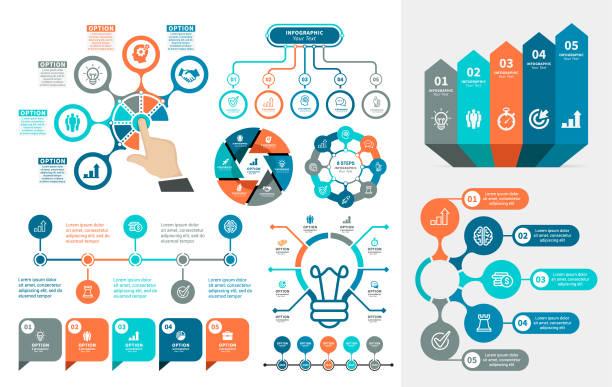 infografik-elemente  - flowchart infografiken stock-grafiken, -clipart, -cartoons und -symbole