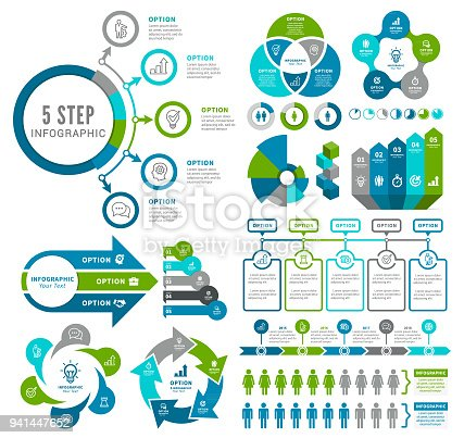 Vector illustration of the business and finance infographic elements