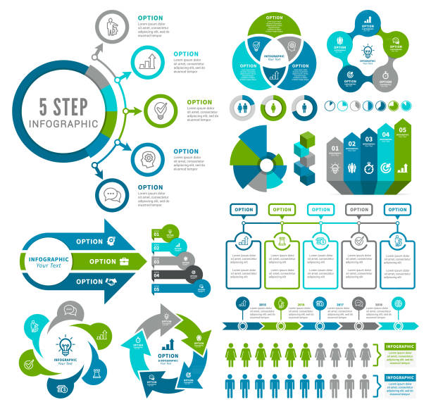 infographic öğeleri - infographic stock illustrations