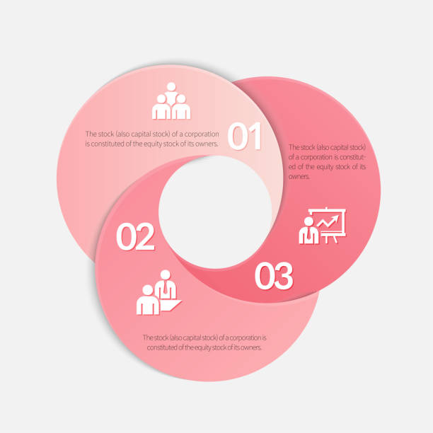 Infographic elements. Pink circle origami style options banner. Vector illustration. Can be used for workflow layout, diagram, number options, step up options, web design, infographics. machine part stock illustrations