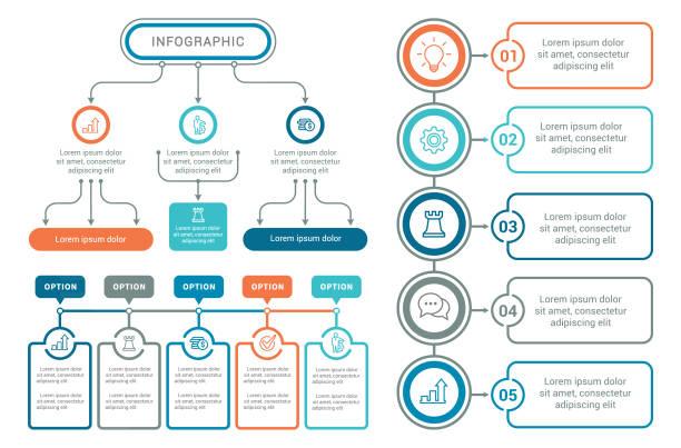 ilustrações, clipart, desenhos animados e ícones de elementos para infográficos  - escorrer