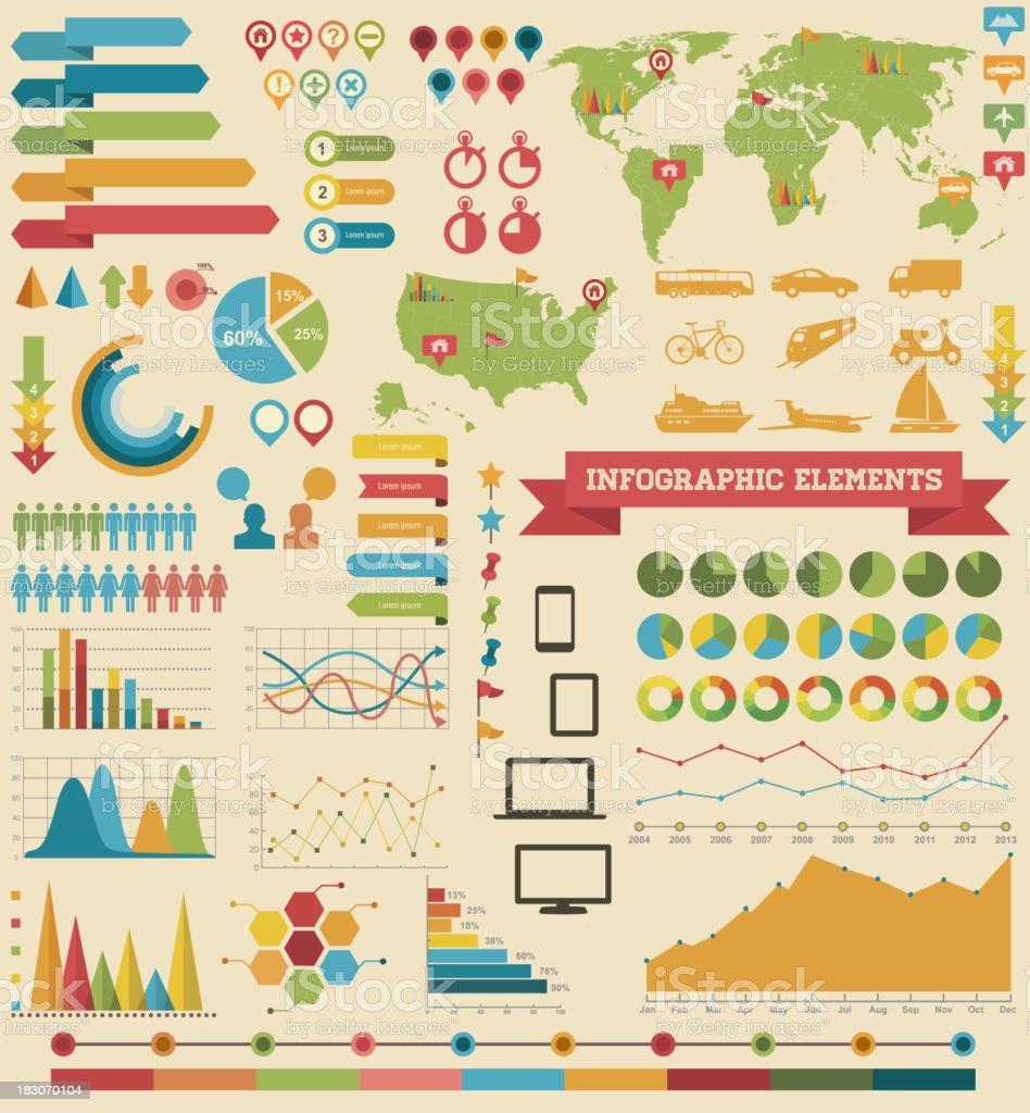 Infographic Elements-Transport vector art illustration