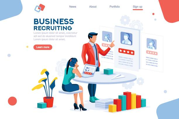 infographic employment concept vector - business cv templates stock illustrations