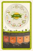 Infographic flat advertising fertilizers