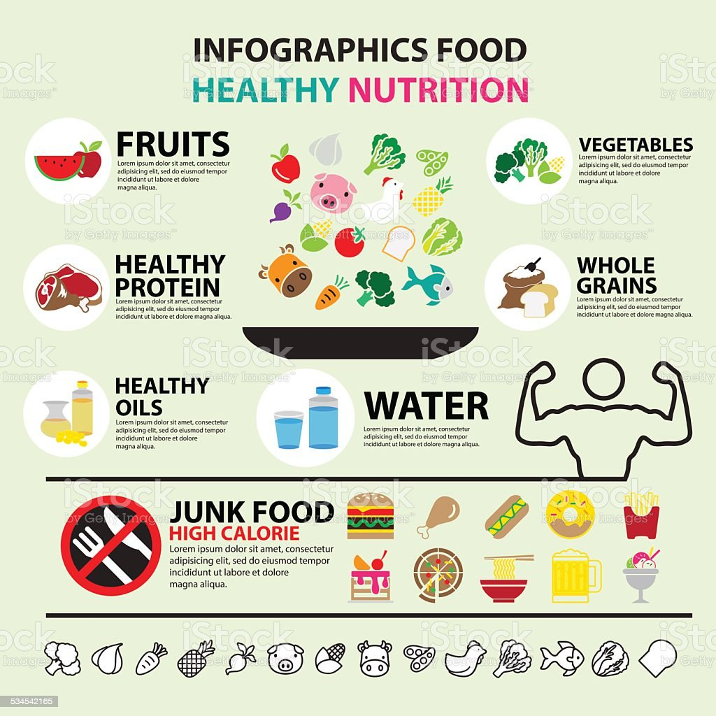 Infographic food healthy nutrition Royalty Free Vector Image