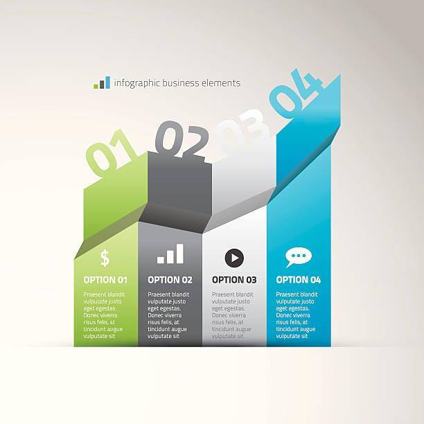 stockillustraties, clipart, cartoons en iconen met infographic graph business elements options vector illustration eps10 - wat