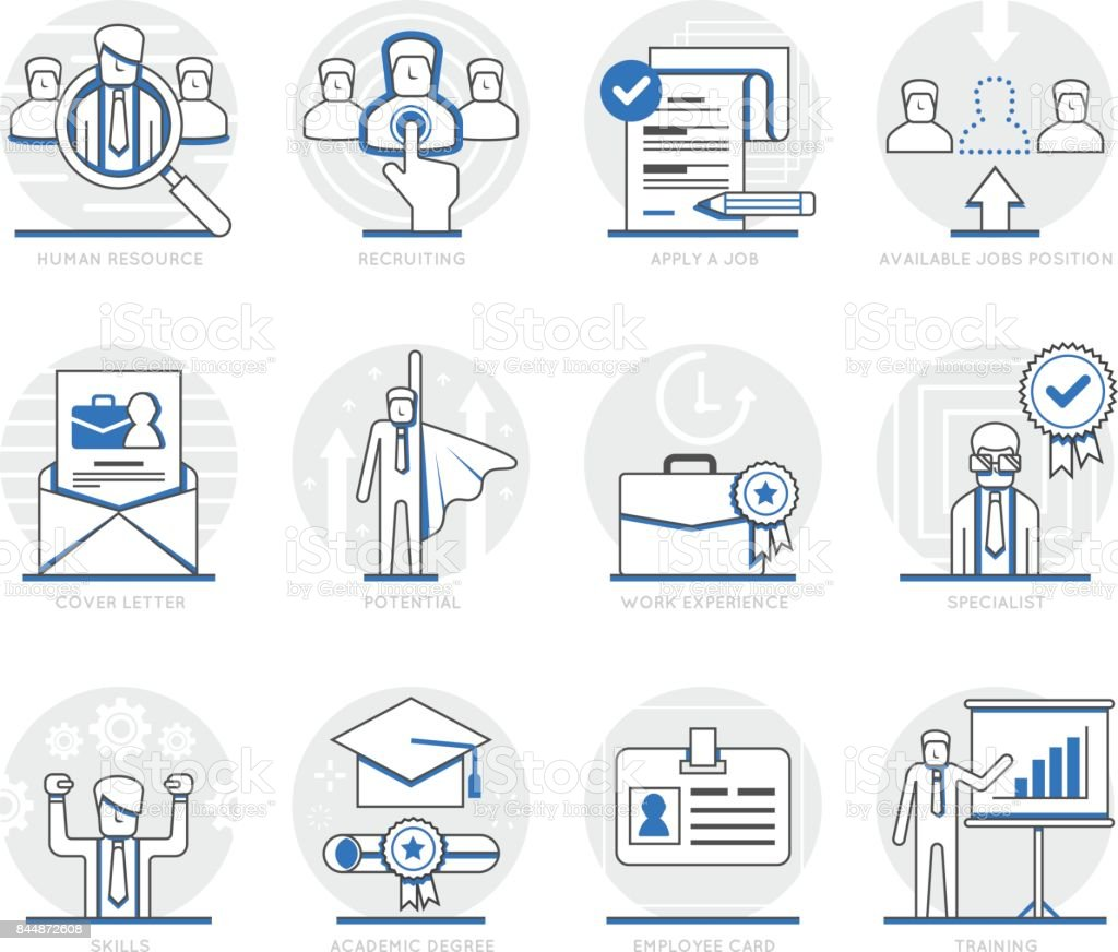 Infographic Icons Elements About Human Resource Stock Illustration