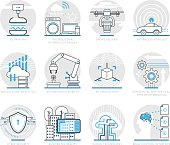 Infographic Icons Elements about Logistics technology