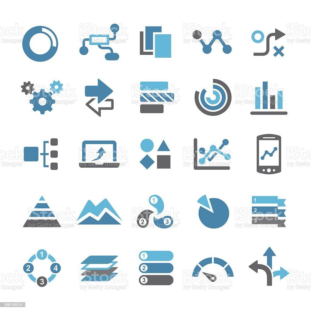 infographic icons qual series stock illustration