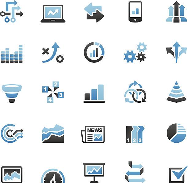 infografiki ikony zestaw - duża grupa obiektów stock illustrations