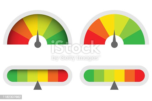 Infographic illustration for web design. Gauge vector icon.