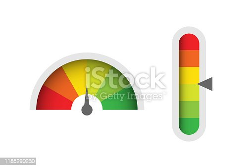 istock Infographic illustration for web design. Gauge vector 1185290230