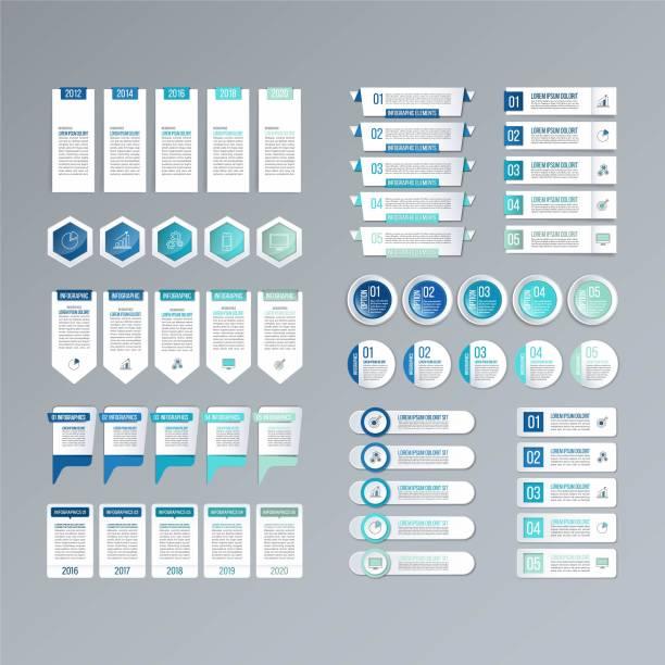 Bекторная иллюстрация Infographic Label Banner and Set.