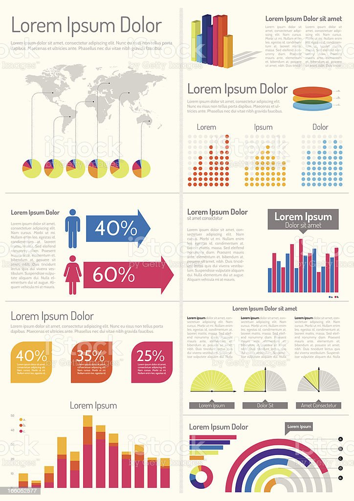 Infographic Layout Design royalty-free stock vector art
