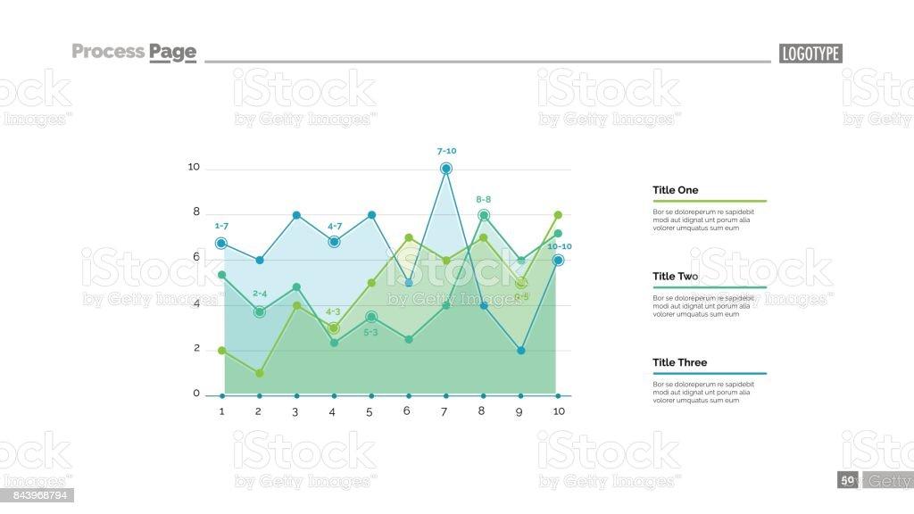Infographic Line Chart Slide Template Stock Illustration