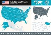 USA - infographic map